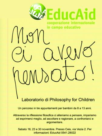 Non ci avevo pensato! – Philosophy for Children