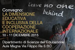 Leave no one behind – La dimensione educativa e inclusiva della cooperazione internazionale