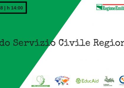 SERVIZIO CIVILE con EducAid: Avviso di selezione pubblica per la partecipazione ai progetti di Servizio Civile Regionale