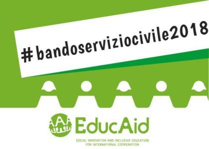 SERVIZIO CIVILE con EducAid: Avviso di selezione pubblica per la partecipazione ai progetti di Servizio Civile 2018