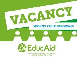 Servizio Civile con EducAid: avviso di selezione pubblica per la partecipazione ai progetti di Servizio Civile Universale 2019